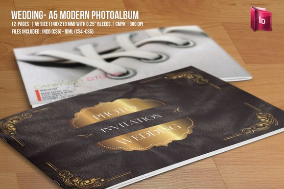 Wedding - A5 Modern Photo Album Creative, Wedding and Photos - wedding brochure template
