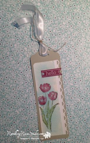 Thinking of You Bookmark…Scallop Tag Topper Punch & Blessed Easter & Perfect Pennants stamps - Billie Moan