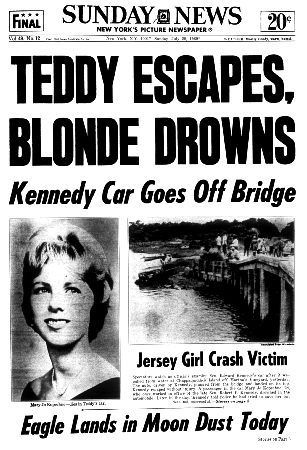 Ted Kennedy Drives Car In Water