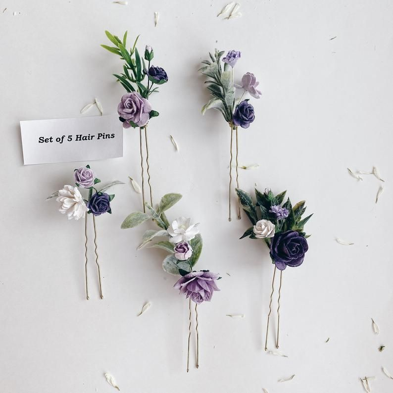 Lilac Hair Pin Lilac Flower Jewelry Lilac Hair Flower Flower Etsy Bridesmaid Flowers Lilac Hair Flower Hair Pieces
