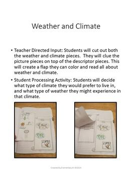 weather vs climate interactive notebook freebie science for grades 3 5 pinterest weather. Black Bedroom Furniture Sets. Home Design Ideas