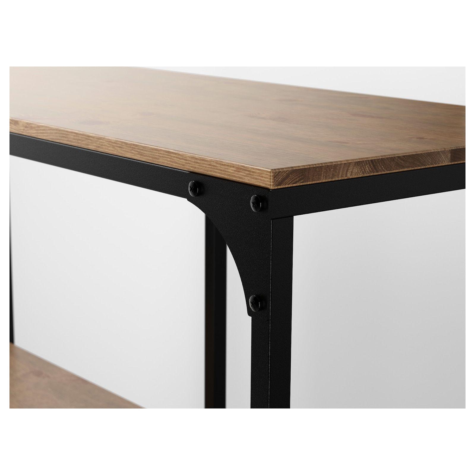 Fjallbo وحدة رفوف أسود 100x95 سم Ikea Shelf Unit Ikea Solid Wood Shelves