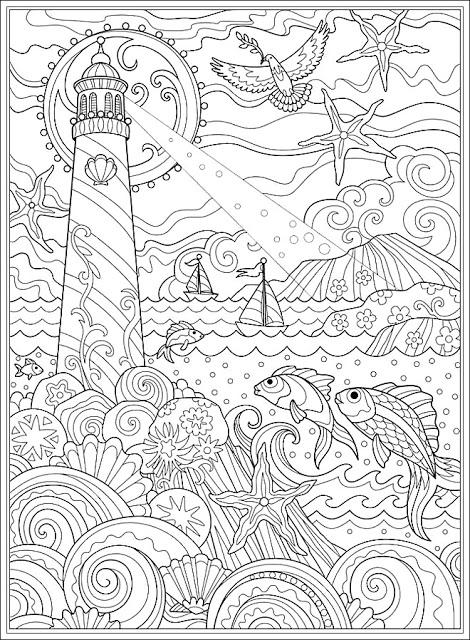 Mar Y Faro Para Colorear Para Adultos En 2020 Dibujos Para