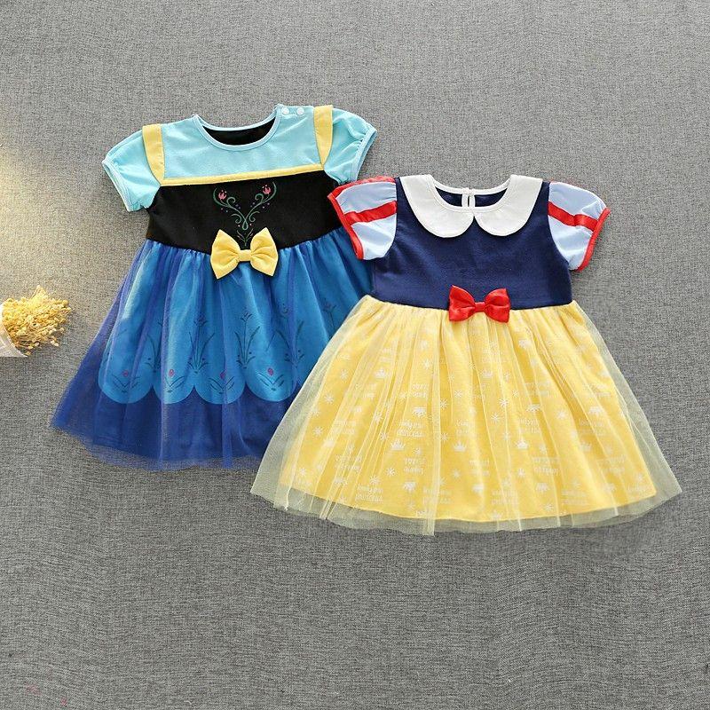 8361815aad127 ディズニープリンセス 子供用 ドレス キッズ ワンピース 白雪姫 アナ エルサ アナ雪 コスチュームドレス なりきり プリンセス