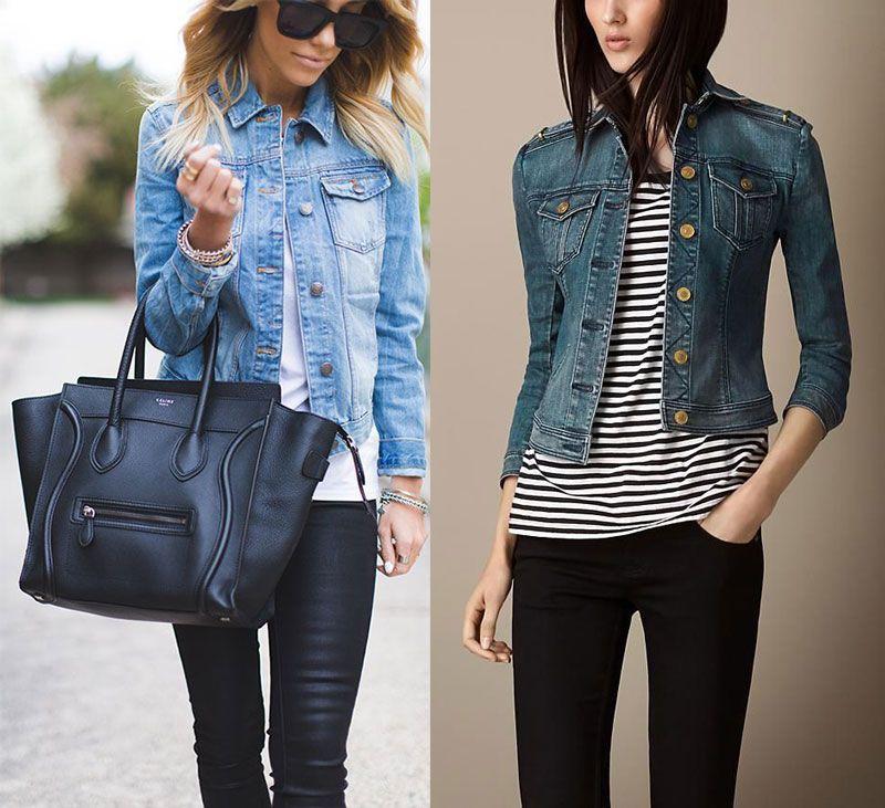 hot sale online 30e60 eadbd Giubbotto di jeans | Borse | Jeans, Giacca di jeans e Come ...