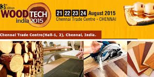 Woodtech India 2015-21 to 24 August 2015 at Chennai Trade Centre, Off Porur Road, Chennai, Tamilnadu, India.  #WoodTechIndia2015 #Wood #Woodenfloorings #Plywood