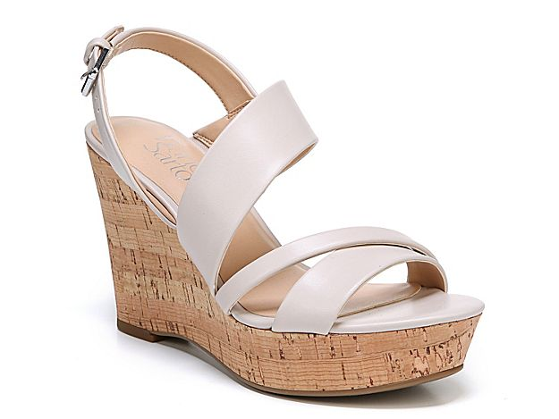 Women Seneca Wedge Sandal Off White | Wedge sandals, Wedges