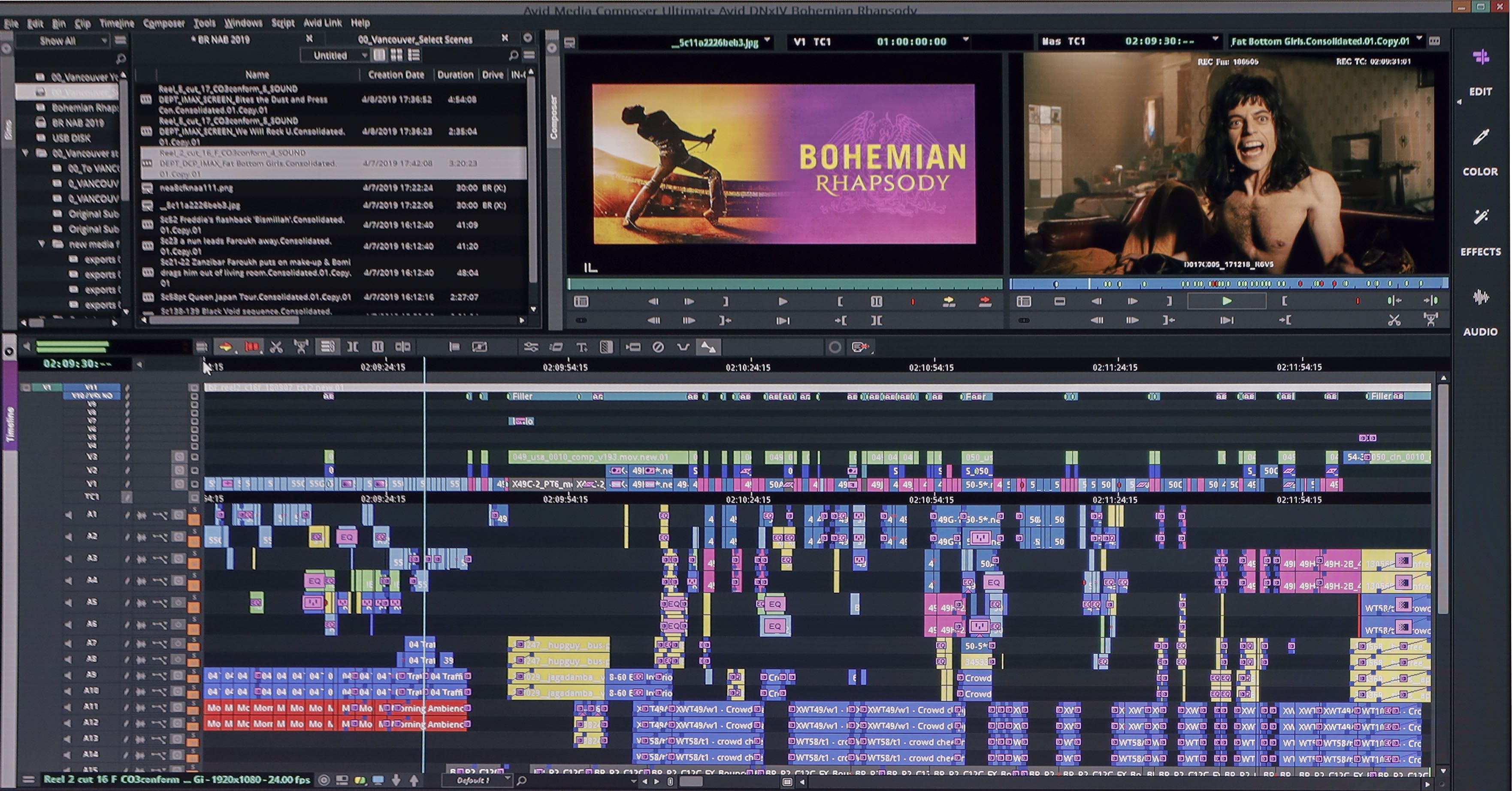 Happy Timelinetuesday We Re Showing The Timeline Of Bohemian Rhapsody At Nab 2019 With Editor John Ottman Video Editing Software Video Editing Filmmaking