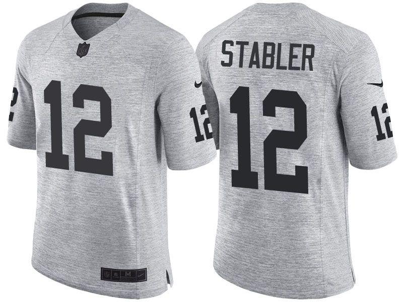 the latest 7c75e f81ea Oakland Raiders #12 Ken Stabler 2016 Gridiron Gray II ...