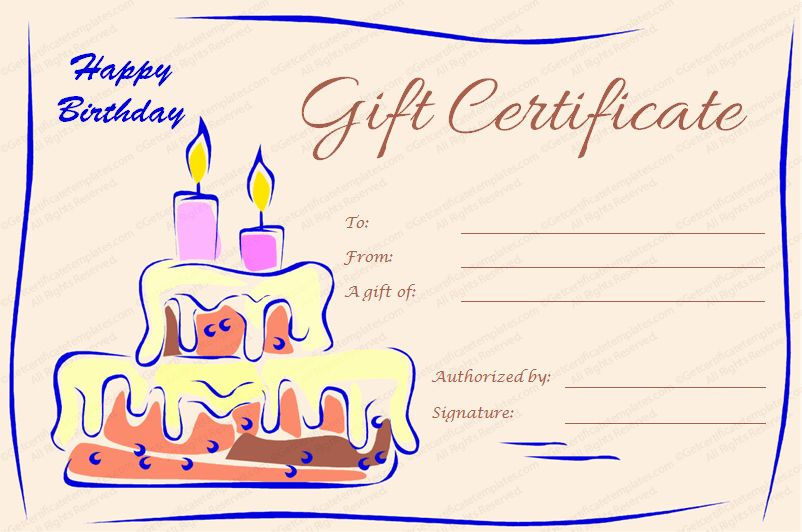 certificate birthday cake template printable templates certificates dinner candles word pdf gifts gutschein vorlage geburtstag regalos cumpleanos docformats