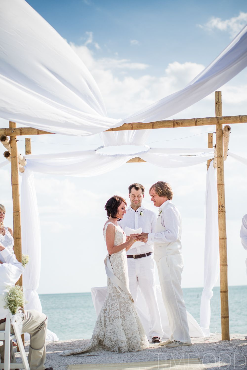 Beach Wedding Fort Myers White Alvina Valenta 9161 Carrie Darling Events Key State Park