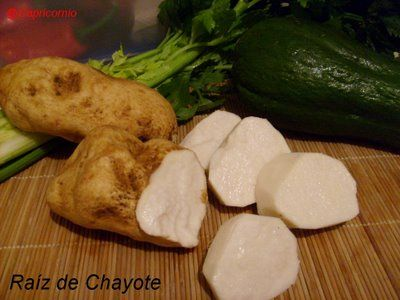 Cocina Costarricense: Raíz de Chayote en Ensalada