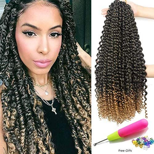 Buy Passion Twist Hair 18 Inch 6 Packs/Lot Water Wave Crochet  Passion Twists Long Bohemian Hair Braiding Ombre Passion Twist Crochet Hair Braids Synthetic Hair Extensions (T1B/27#) online - Topniftyfashion #passiontwistshairstyle New Passion Twist Hair 18 Inch 6 Packs/Lot Water Wave Crochet for Passion Twists Long Bohemian Hair Braiding Ombre Passion Twist Crochet Hair Braids Synthetic Hair Extensions (T1B/27 ) Fashion Wigs. [$33.88] topniftyfashion Fashion is a popular style #passiontwistshairstylelong