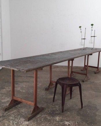 Antiquites Mobilier Industriel Vintage Et Objets Deco Anciens Table Salle A Manger Mobilier Deco