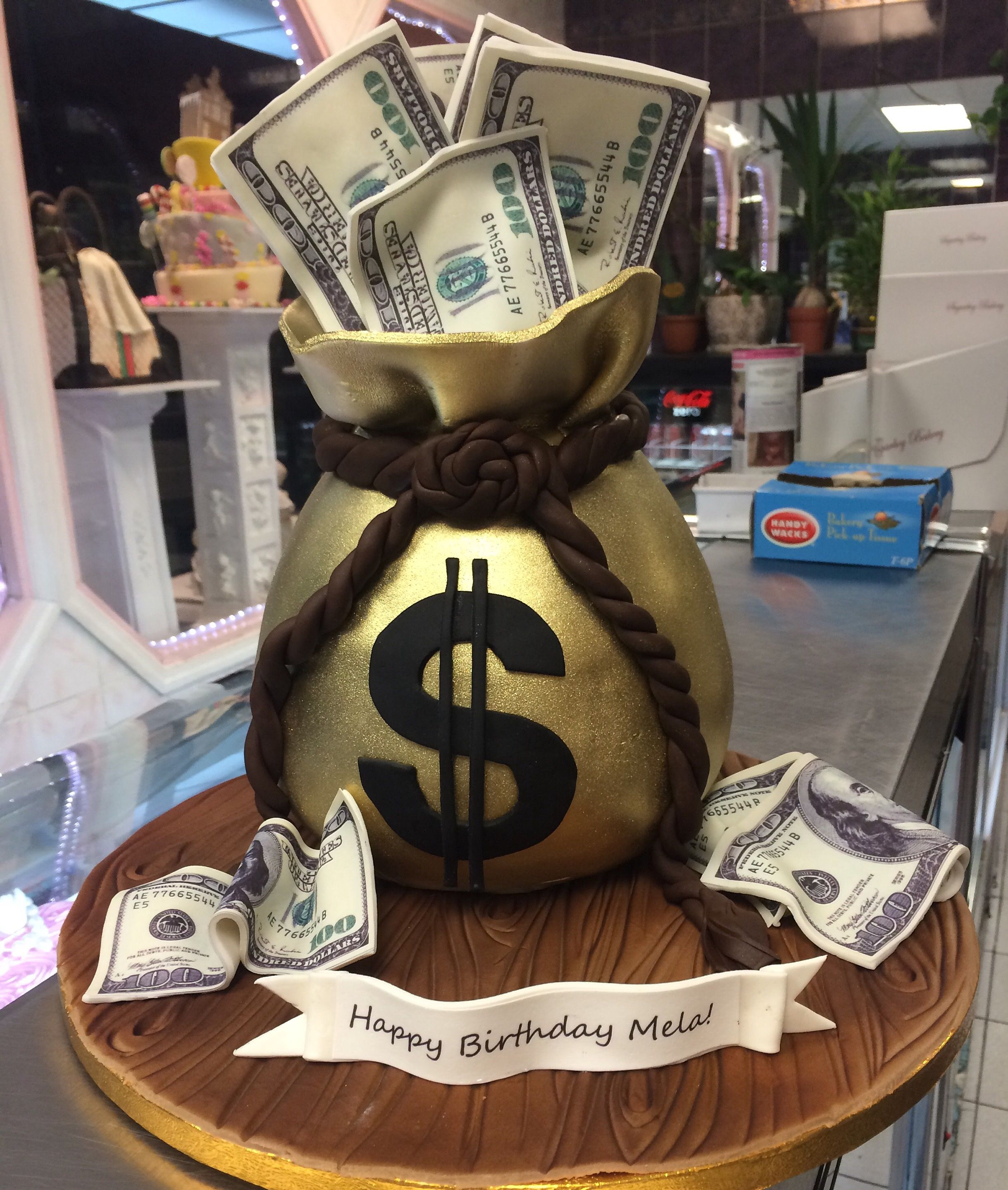 Money Bag Birthday Cake Money Birthday Cake Boys 18th Birthday
