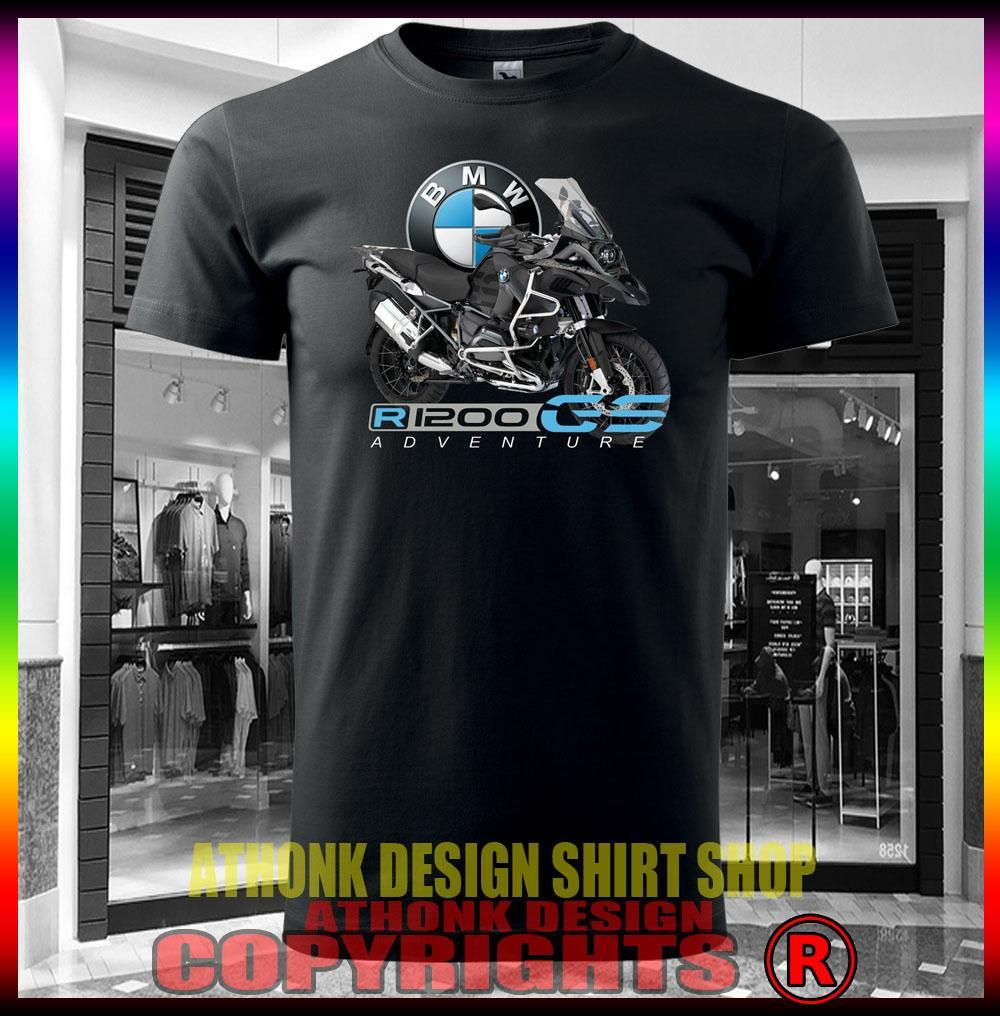 BMW R1200GS Adventure black Herren Motorrad Biker T Shirt