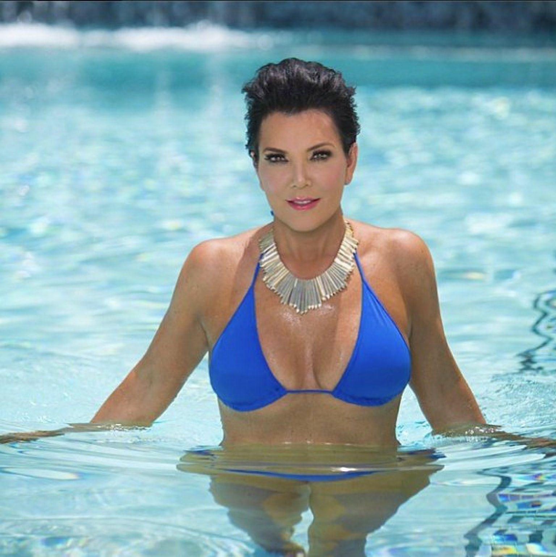 Kris Jenner Poses In A Bikini