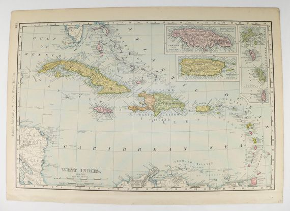 West indies map 1903 vintage map cuba bahamas map virgin islands west indies map 1903 vintage map cuba bahamas map virgin islands jamaica map gumiabroncs Image collections