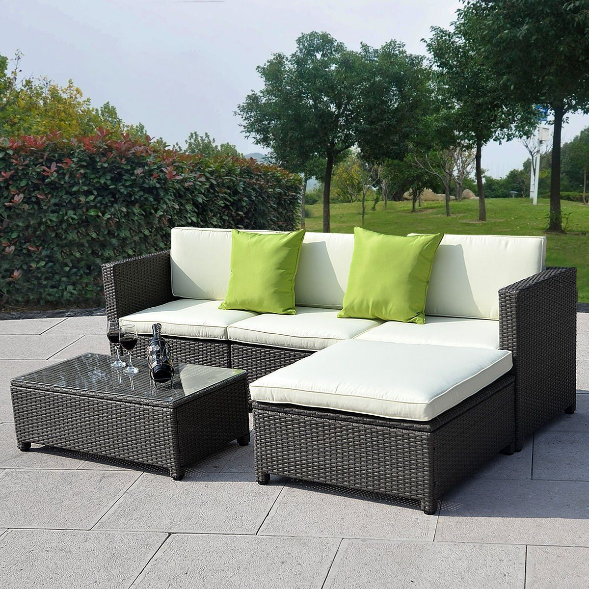Baptist 6 Piece Rattan Sofa Set With Cushions Rattan Outdoor Furniture Clearance Best Interior Furniture
