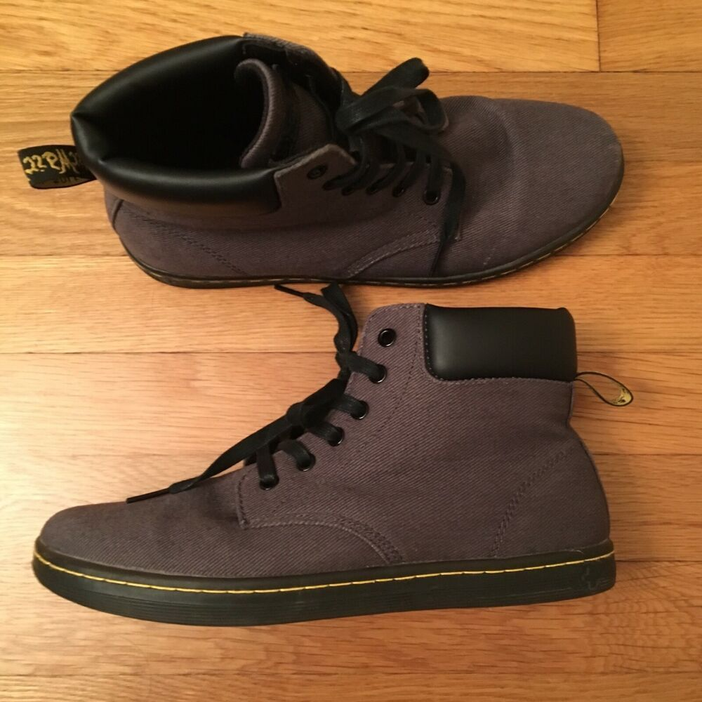 Details about Dr Martens Maelly Womens Black Canvas Boots Size 8