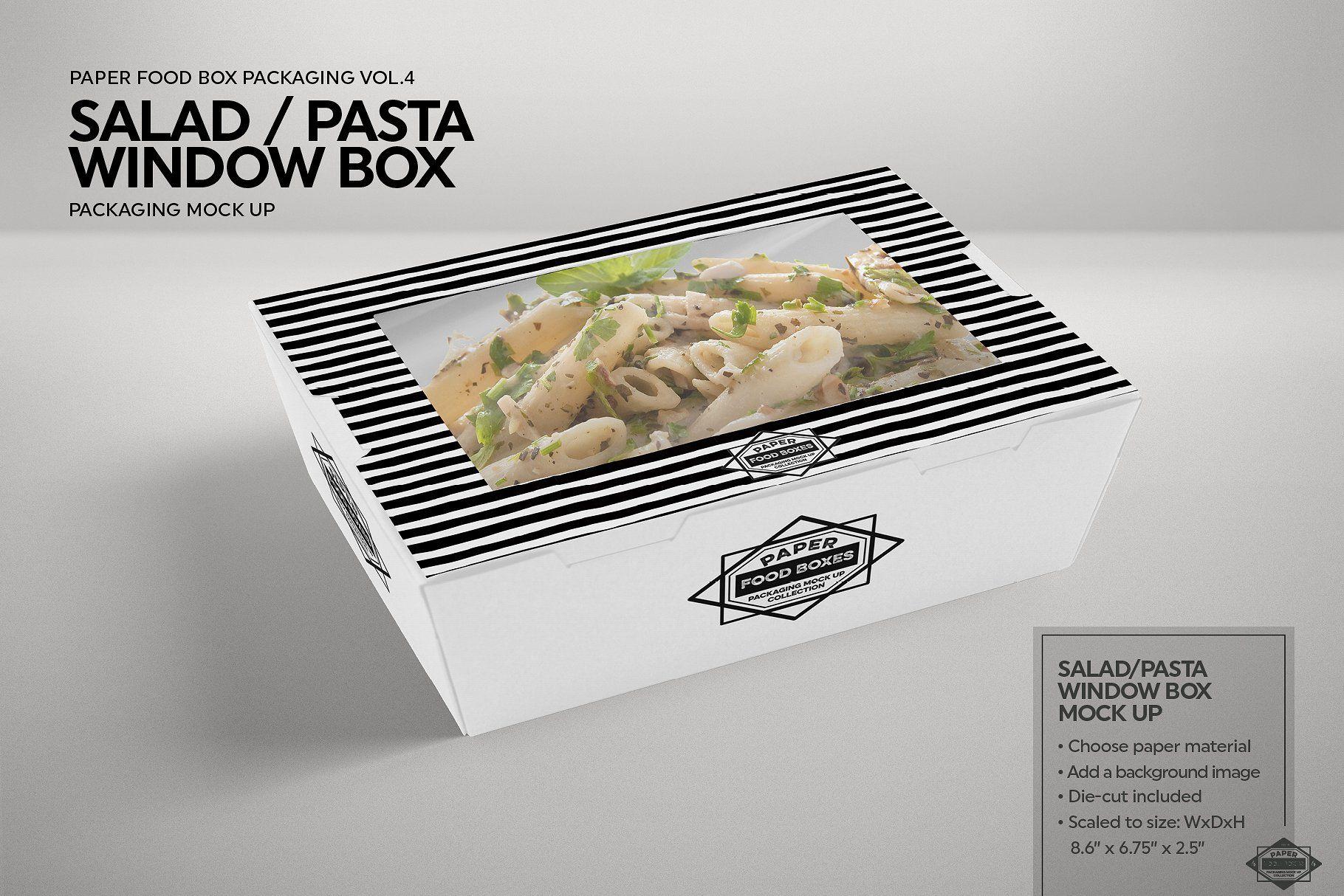 Download Clamshell Window Box Mockup Box Mockup Food Box Packaging Free Packaging Mockup