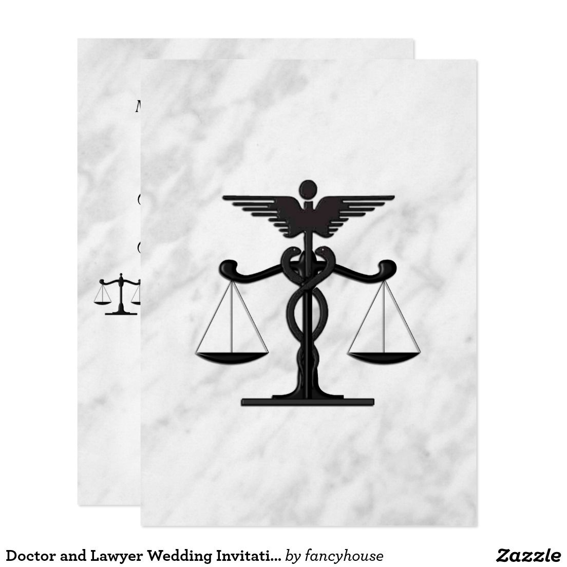 Doctor and Lawyer Wedding Invitation 50% off #leatherwooddesign ...