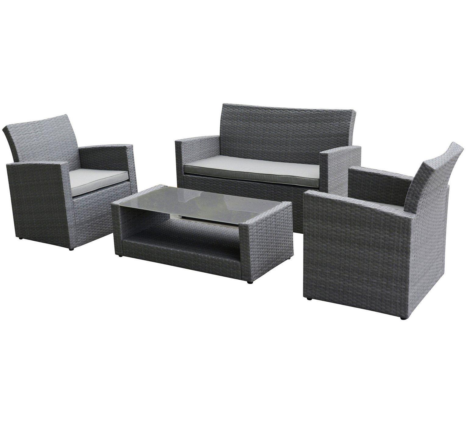 Buy Collection Havana Rattan Effect Grey 4 Seater Sofa Set