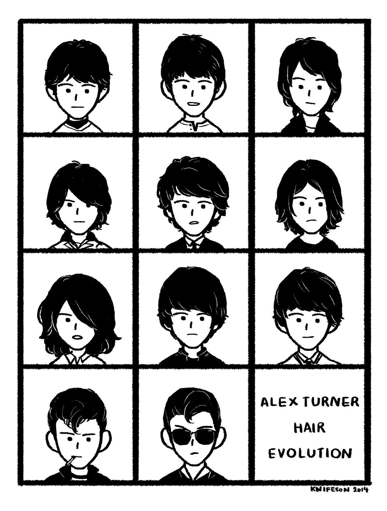 Hair Evolution Arctic Monkeys Artic Monkeys The Last Shadow Puppets