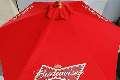 Budweiser Patio Umbrella   Budweiser Beer Bowtie Logo Patio Beach Pool 7  Ft. Umbrella