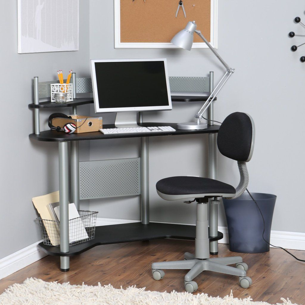 12 Space Saving Designs Using Small Corner Desks Desks For Small Spaces Corner Desk Small Computer Desk