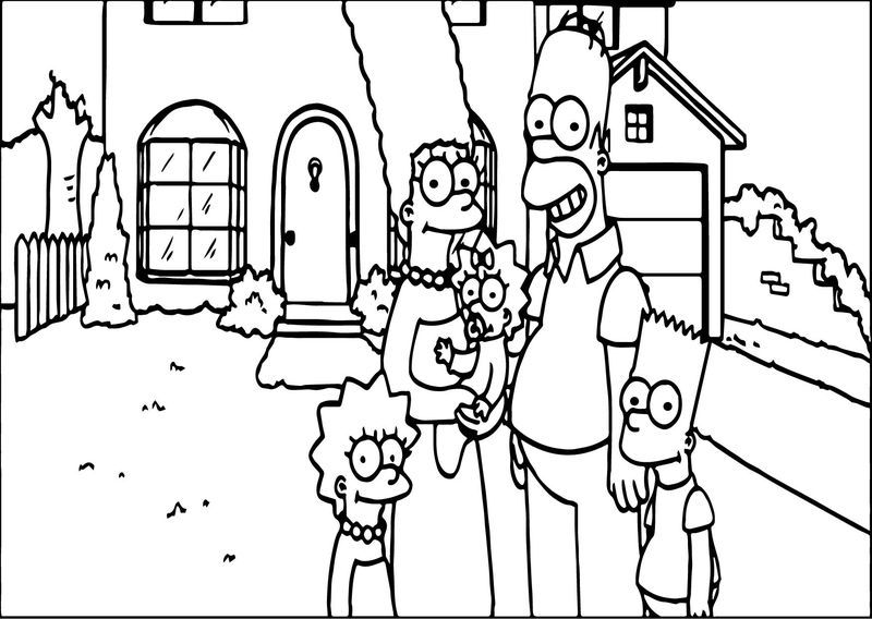 Simpsons Jef Family Photo Coloring Page Cute coloring