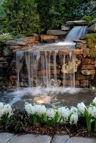 Resultado de imagen para los mejores diseños de cascadas para jardin