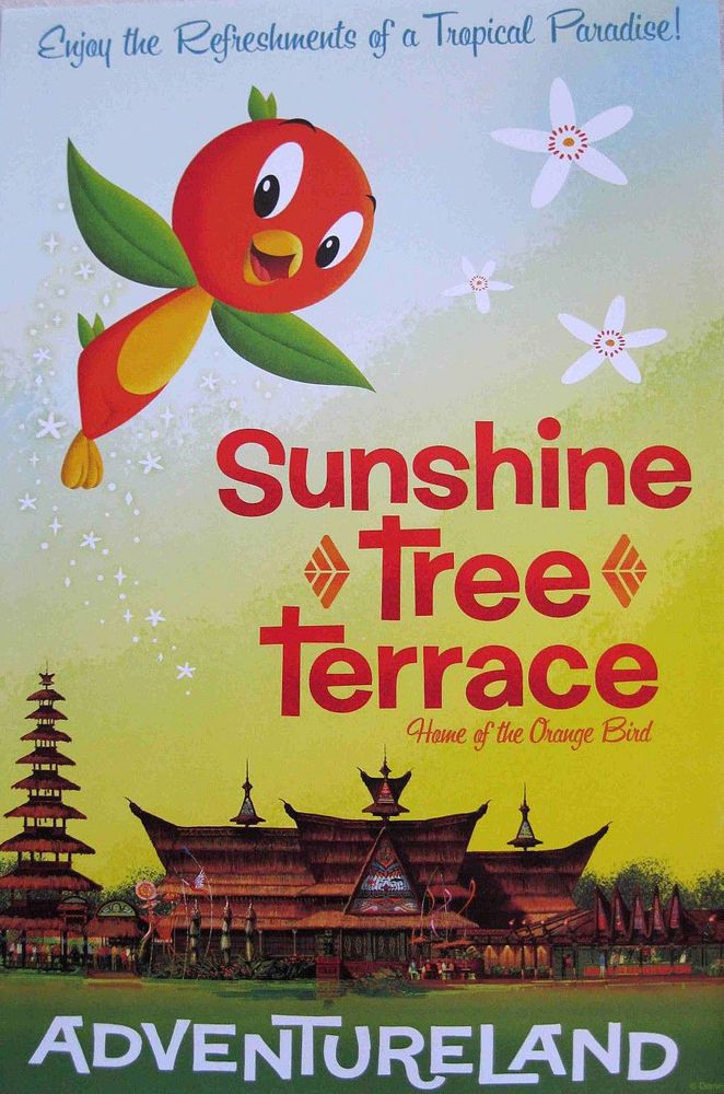 Walt Disney World Attraction Poster Print Orange Bird