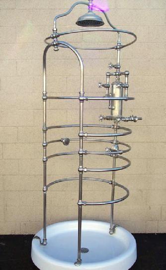 Stunning ca1910 Standard Mfg Co. Rib Cage Needle shower