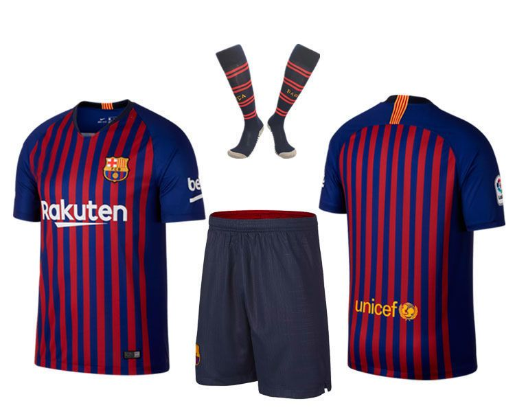 919e3cab1 Soccer Football Outfit Kids Adult Club Jerseys Strips Christmas Customized  Gift Kids Adult