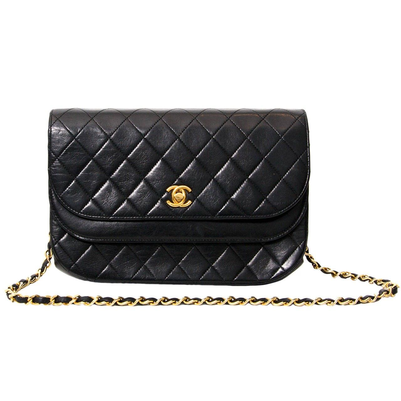 f2ddd12fd54 vintage tweedehands Chanel 2.55 online e-shop labellov. Chanel Black  Quilted Flap Bag ...