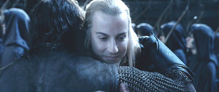 Haldir and Aragorn - The Two Towers - Lord of the Rings - Craig Parker - Viggo Mortensen