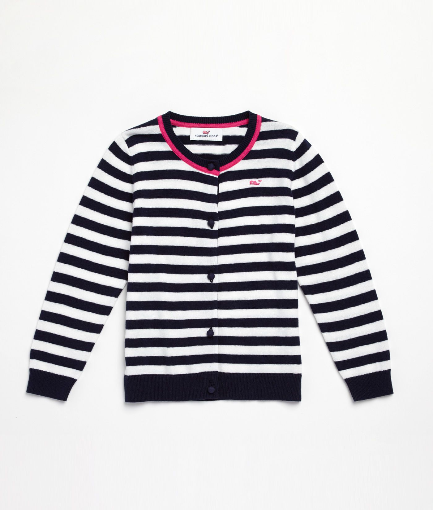 Shop Sweaters: Stripe Cotton Cardigan for Girls | Vineyard Vines ...