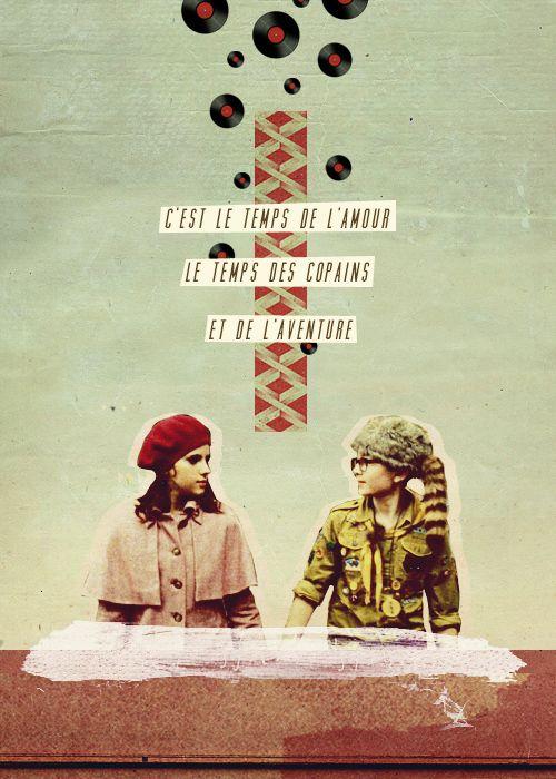 C Est Le Temps De L Amour : temps, amour, Yeah,, Anderson, Movie, Posters,, Films,, Moonrise, Kingdom