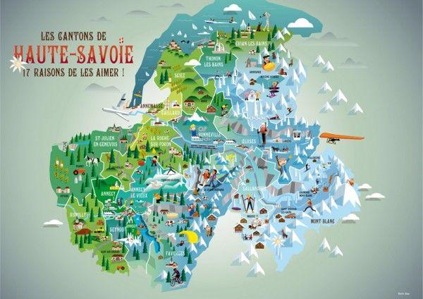 Carte Des Cantons De Haute Savoie Charlie Adam En 2019 Savoie
