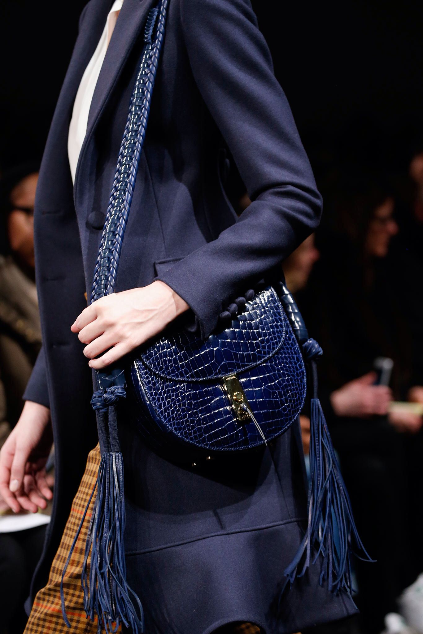 Altuzarra navy croc saddle bag #style #fashion # ...