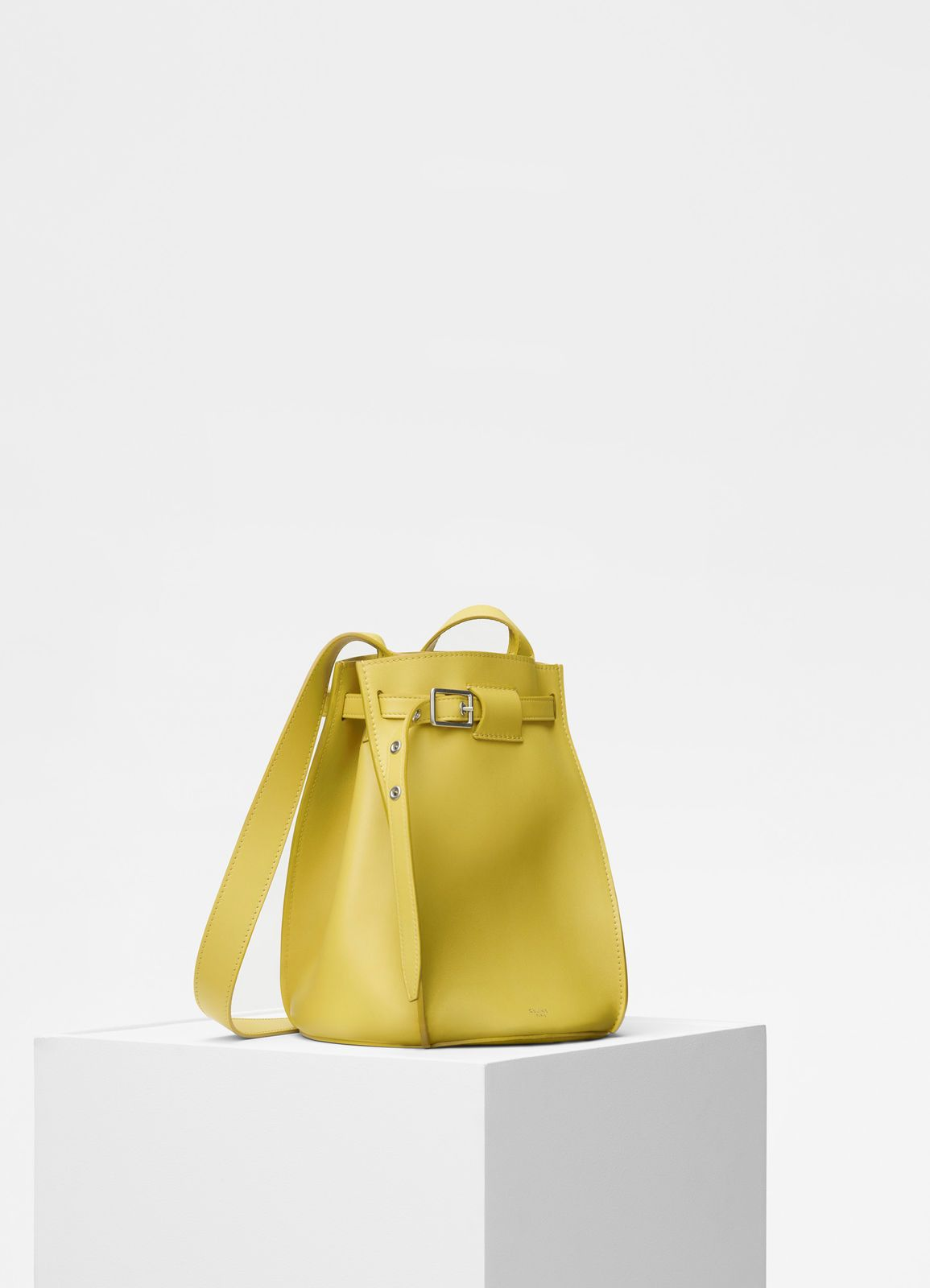 Céline - Big bag bucket with long strap in smooth mimosa calfskin ... eaa060a8551c1