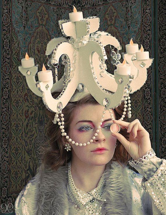 Drag CABARET GIRLY Christmas Costume PROP HEADDRESS