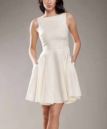 95b489e56e7 Another great find on  zulily! Beige Sleeveless Fit   Flare Dress by NIFE   zulilyfinds