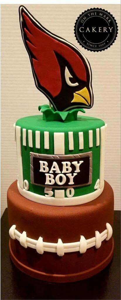 Arizona Cardinals Football Themed Baby Shower Cake. A Great Theme To  Welcome A Future Football