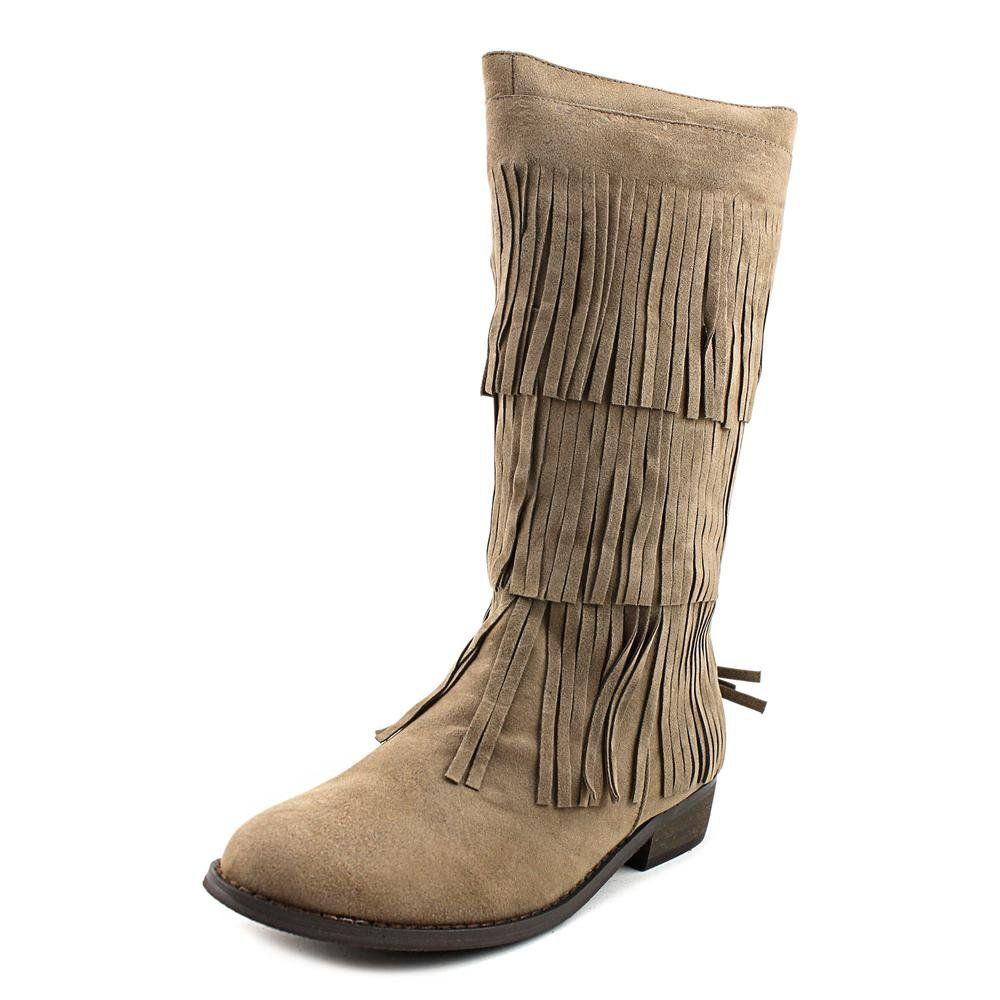 "Volatile Kids Vinny Youth US 13 Tan Mid Calf Boot. The style name is Vinny. The style number is VINNY-TAU. Brand Color: Taupe (Main Color: Beige). Material: Synthetic. Measurements: Shaft measures 10"", Circumference measures 10"" and 1.5"" heel. Width: M (Y)."