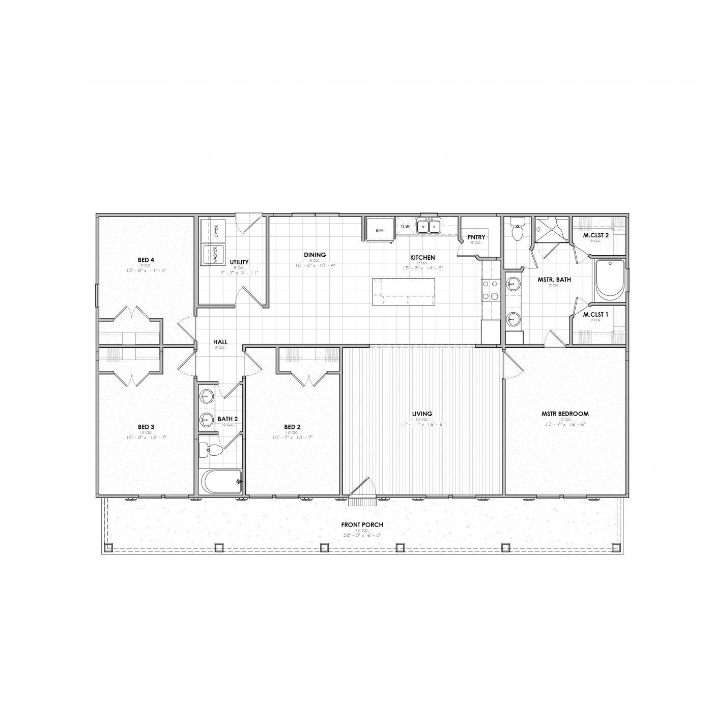 Camellia Farmhouse 20180622 Floor Plan Modular Home Floor Plans Floor Plans Dream House Plans