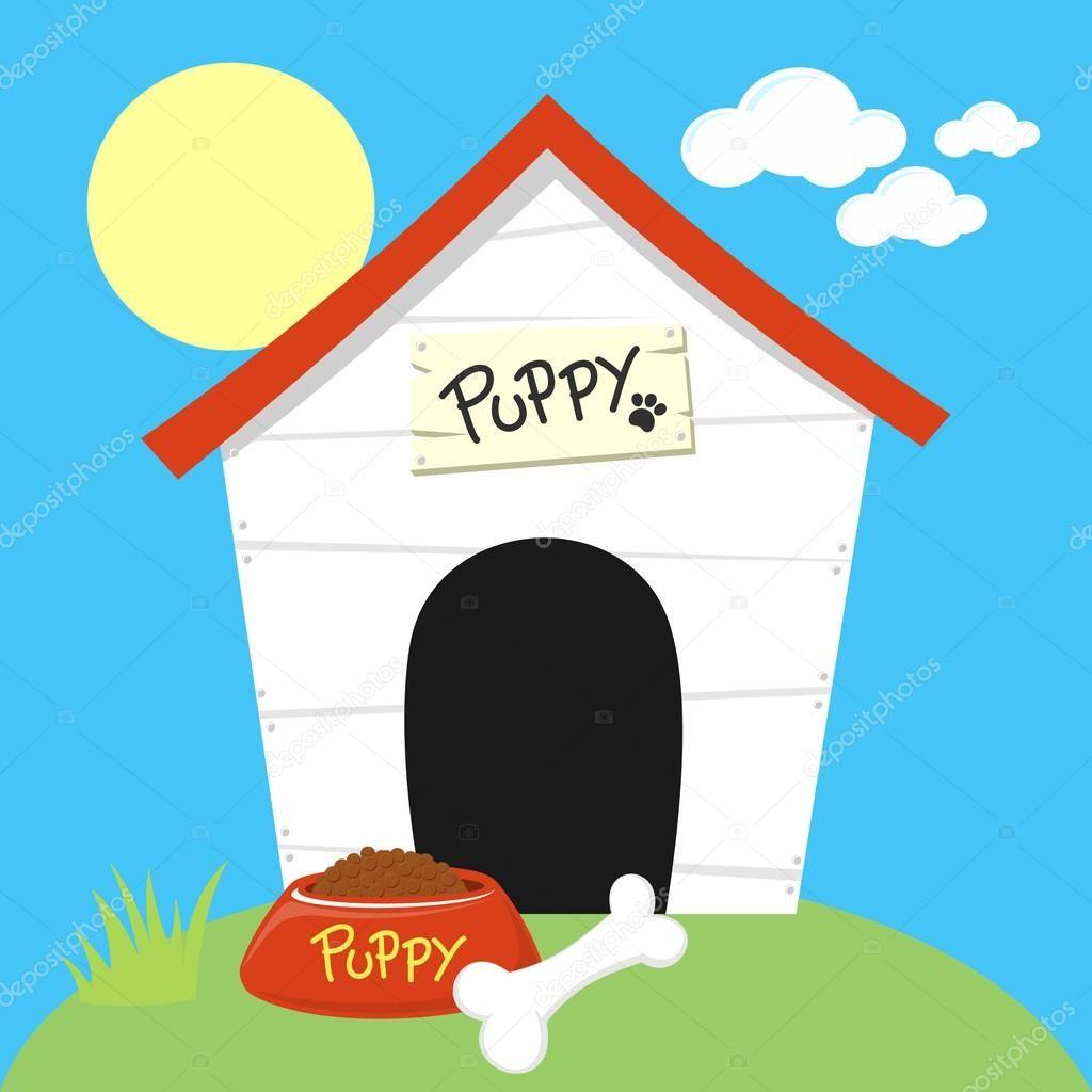 Resultado De Imagen De Casa De Perro Dibujo Kindergarten Fun Dog Bowls Dog Houses