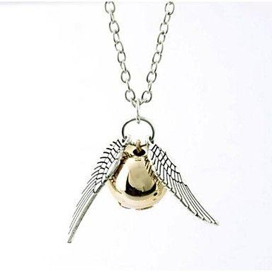 snitch guld halskæde Harry Potter og Dødsregalierne gyldne snitch halskæde (1 stk) – DKK kr. 21