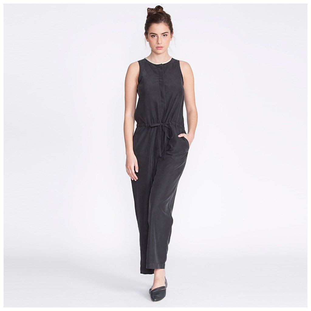 women's jumpsuit, black
